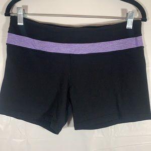 Lululemon Black & Purple Shorts size 10